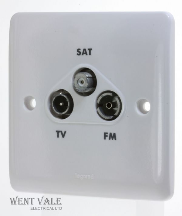 Legrand Synergy - 7300 43 - 1g TV/FM/SAT Triplexer Outlet New